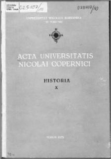 Acta Universitatis Nicolai Copernici. Nauki Humanistyczno-Społeczne. Historia, z. 10 (67), 1975