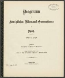 Programm des Königlichen Bismarck-Gymnasiums zu Pyritz. Ostern 1898