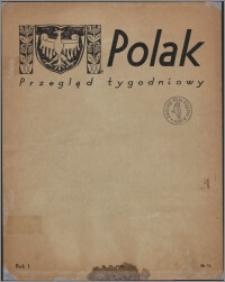 Polak : przegląd tygodniowy 1945.10.26, R. 1 nr 15