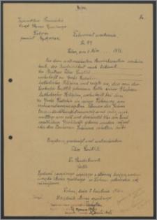 Dokument urodzenia - odpis