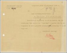 Pismo z Inspektoratu Szkolnego