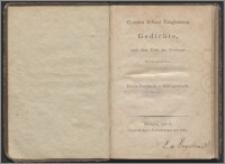 Christian Erhard Langhansen's Gedichte, nach dem Tode des Verfassers