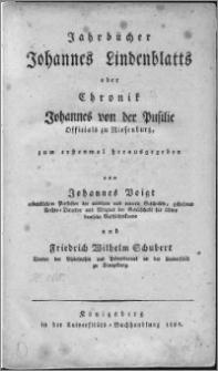 Jahrbücher Johannes Lindenblatts oder Chronik Johannes von der Pusilie : Officials zu Riesenburg