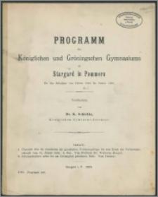 Programm des Königlichen und Gröningschen Gymnasiums zu Stargard in Pommern für das Schuljahr von Ostern 1902 bis Ostern 1903