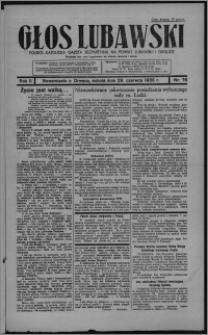 Głos Lubawski : polsko-katolicka gazeta bezpartyjna na powiat lubawski i okolice 1935.06.29, R. 2, nr 76 + Dodatek Rolniczy