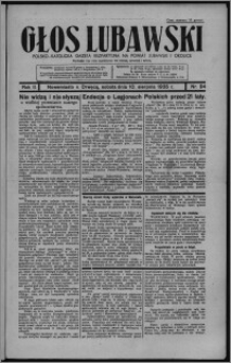 Głos Lubawski : polsko-katolicka gazeta bezpartyjna na powiat lubawski i okolice 1935.08.10, R. 2, nr 94 + Dodatek Rolniczy