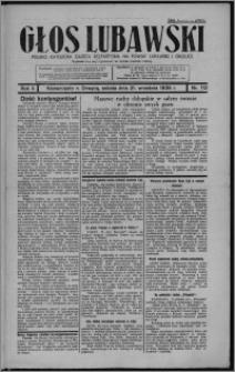 Głos Lubawski : polsko-katolicka gazeta bezpartyjna na powiat lubawski i okolice 1935.09.21, R. 2, nr 112 + Dodatek Rolniczy