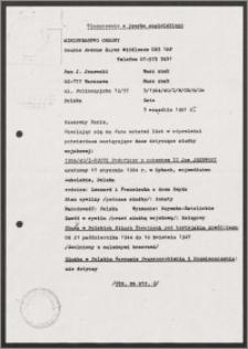Potwierdzenie służby wojskowej Jana Jeżewskiego
