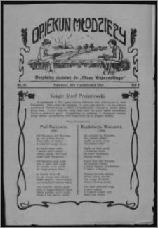 """Opiekun Młodzieży : bezpłatny dodatek do """"Głosu Wąbrzeskiego"""" 1924.10.09, R. 1, nr 28"""
