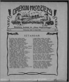 """Opiekun Młodzieży : bezpłatny dodatek do """"Głosu Wąbrzeskiego"""" 1927.02.08, R. 4, nr 6"""