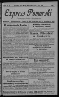 Express Pomorski : pismo niezależne i bezpartyjne 1924.11.15, R. 1, nr 185