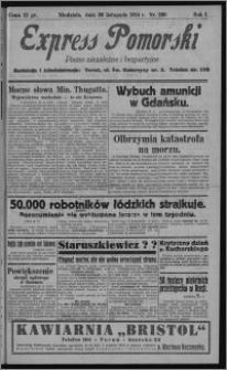 Express Pomorski : pismo niezależne i bezpartyjne 1924.11.30, R. 1, nr 200