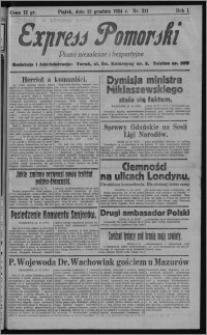 Express Pomorski : pismo niezależne i bezpartyjne 1924.12.12, R. 1, nr 211