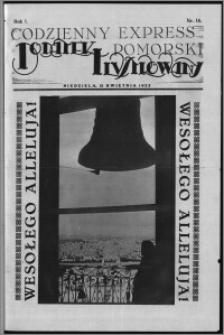 Codzienny Express Pomorski. Dodatek Ilustrowany 1925.04.12, R. 1, nr 14