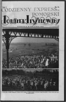 Codzienny Express Pomorski. Dodatek Ilustrowany 1925.04.26, R. 1, nr 16