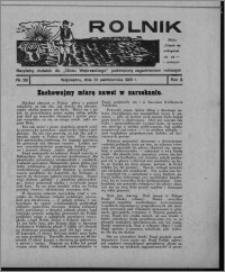 """Rolnik : bezpłatny dodatek do """"Głosu Wąbrzeskiego"""" poświęcony zagadnieniom rolniczym 1931.10.31, R. 3, nr 29"""