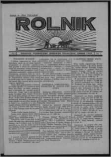 """Rolnik : dodatek poświęcony sprawom rolniczym : organ T.R.P. : dodatek do """"Głosu Wąbrzeskiego"""" 1934, R. 4, nr 6"""