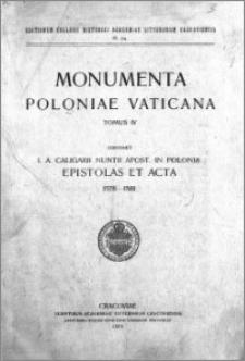 I. A. Caligarii nuntii Apostolici in Polonia epistolae et acta 1578-1581