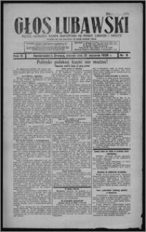 Głos Lubawski : polsko-katolicka gazeta bezpartyjna na powiat lubawski i okolice 1936.01.21, R. 3, nr 8