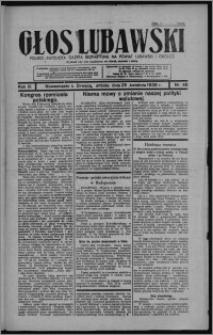 Głos Lubawski : polsko-katolicka gazeta bezpartyjna na powiat lubawski i okolice 1936.04.25, R. 3, nr 48 + Dodatek Rolniczy nr 17