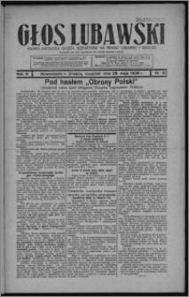 Głos Lubawski : polsko-katolicka gazeta bezpartyjna na powiat lubawski i okolice 1936.05.28, R. 3, nr 62