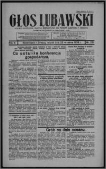Głos Lubawski : polsko-katolicka gazeta bezpartyjna na powiat lubawski i okolice 1936.09.22, R. 3, nr 110