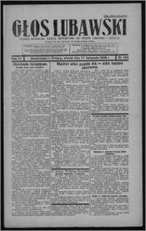 Głos Lubawski : polsko-katolicka gazeta bezpartyjna na powiat lubawski i okolice 1936.11.17, R. 3, nr 134