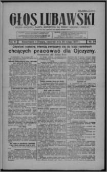 Głos Lubawski : polsko-katolicka gazeta bezpartyjna na powiat lubawski i okolice 1937.02.25, R. 6 [i.e. 4], nr 24