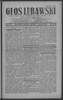 Głos Lubawski : polsko-katolicka gazeta bezpartyjna na powiat lubawski i okolice 1937.06.17, R. 6 [i.e. 4], nr 69