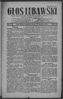 Głos Lubawski : polsko-katolicka gazeta bezpartyjna na powiat lubawski i okolice 1937.11.23, R. 4, nr 136