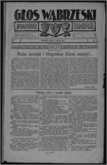 Głos Wąbrzeski 1927.01.01, R. 7, nr 1