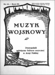 Muzyk Wojskowy. Dwutygodnik poświęcony kulturze muzycznej w Armji Polskiej 1928.08.15 R.3 nr 16