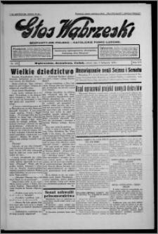Głos Wąbrzeski : bezpartyjne polsko-katolickie pismo ludowe 1935.11.09, R. 16, nr 133