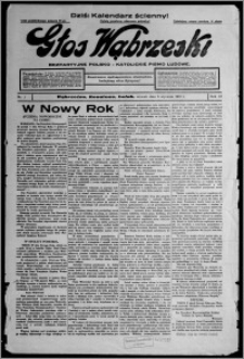 Głos Wąbrzeski : bezpartyjne polsko-katolickie pismo ludowe 1937.01.05, R. 18, nr 1