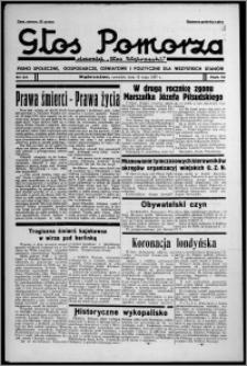"""Głos Pomorza : dawniej """"Głos Wąbrzeski"""" : pismo społeczne, gospodarcze, oświatowe i polityczne dla wszystkich stanów 1937.05.13, R. 19[!], nr 54"""