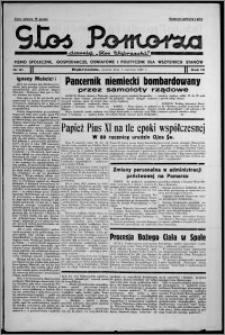 """Głos Pomorza : dawniej """"Głos Wąbrzeski"""" : pismo społeczne, gospodarcze, oświatowe i polityczne dla wszystkich stanów 1937.06.01, R. 19[!], nr 61"""