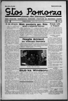 """Głos Pomorza : dawniej """"Głos Wąbrzeski"""" : pismo społeczne, gospodarcze, oświatowe i polityczne dla wszystkich stanów 1937.06.05, R. 19[!], nr 63 + Świat Kobiecy nr 12, Niedziela nr 23"""