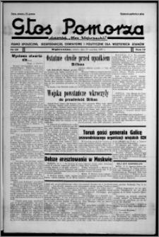 """Głos Pomorza : dawniej """"Głos Wąbrzeski"""" : pismo społeczne, gospodarcze, oświatowe i polityczne dla wszystkich stanów 1937.06.19, R. 19[!], nr 69 + Niedziela nr 25"""