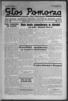 """Głos Pomorza : dawniej """"Głos Wąbrzeski"""" : pismo społeczne, gospodarcze, oświatowe i polityczne dla wszystkich stanów 1937.07.29, R. 19[!], nr 86"""