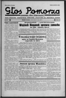 """Głos Pomorza : dawniej """"Głos Wąbrzeski"""" : pismo społeczne, gospodarcze, oświatowe i polityczne dla wszystkich stanów 1937.07.31, R. 19[!], nr 87 + Niedziela nr 30"""