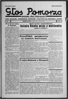 """Głos Pomorza : dawniej """"Głos Wąbrzeski"""" : pismo społeczne, gospodarcze, oświatowe i polityczne dla wszystkich stanów 1937.08.03, R. 19[!], nr 88"""
