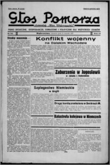 """Głos Pomorza : dawniej """"Głos Wąbrzeski"""" : pismo społeczne, gospodarcze, oświatowe i polityczne dla wszystkich stanów 1937.08.12, R. 19[!], nr 92"""