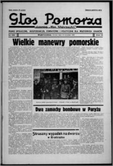 """Głos Pomorza : dawniej """"Głos Wąbrzeski"""" : pismo społeczne, gospodarcze, oświatowe i polityczne dla wszystkich stanów 1937.09.14, R. 19[!], nr 106"""