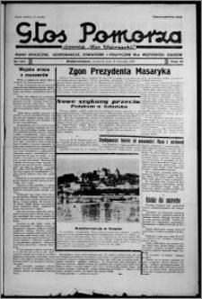 """Głos Pomorza : dawniej """"Głos Wąbrzeski"""" : pismo społeczne, gospodarcze, oświatowe i polityczne dla wszystkich stanów 1937.09.16, R. 19[!], nr 107"""