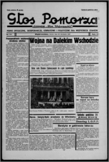 """Głos Pomorza : dawniej """"Głos Wąbrzeski"""" : pismo społeczne, gospodarcze, oświatowe i polityczne dla wszystkich stanów 1937.09.25, R. 19[!], nr 111 + Niedziela nr 38"""