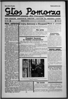 """Głos Pomorza : dawniej """"Głos Wąbrzeski"""" : pismo społeczne, gospodarcze, oświatowe i polityczne dla wszystkich stanów 1937.10.14, R. 19[!], nr 119"""