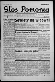 """Głos Pomorza : dawniej """"Głos Wąbrzeski"""" : pismo społeczne, gospodarcze, oświatowe i polityczne dla wszystkich stanów 1937.10.26, R. 19[!], nr 124"""