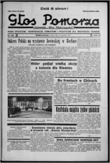 """Głos Pomorza : dawniej """"Głos Wąbrzeski"""" : pismo społeczne, gospodarcze, oświatowe i polityczne dla wszystkich stanów 1937.11.06, R. 19[!], nr 128 + Niedziela nr 44"""
