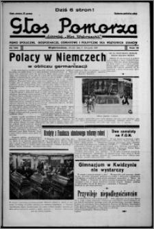 """Głos Pomorza : dawniej """"Głos Wąbrzeski"""" : pismo społeczne, gospodarcze, oświatowe i polityczne dla wszystkich stanów 1937.11.09, R. 19[!], nr 129"""
