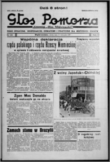 """Głos Pomorza : dawniej """"Głos Wąbrzeski"""" : pismo społeczne, gospodarcze, oświatowe i polityczne dla wszystkich stanów 1937.11.13, R. 19[!], nr 131 + Niedziela nr 45"""